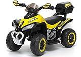 Lean Toys Quad elettrico per bambini IDY-Racing Black 6 V 45 W Quad ATV LED