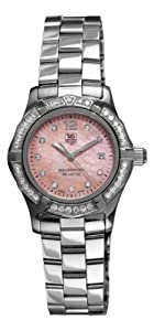 TAG Heuer Women's WAF141B.BA0824 Aquaracer 27mm Stainless Steel Diamond Mother-of-Pearl Dial Watch Reviews and Reviews and review image