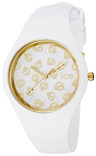 Ice-Watch - ICE skull White Gold - Women's wristwatch with silicon strap - 001262 (Small)