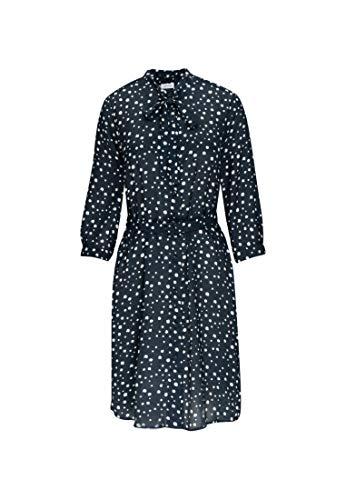 Seidensticker Damen Blusenkleid Midi Kleid, Blau (19), 42