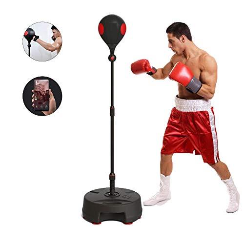 Smart Boksen Bal Met APP Bluetooth-Verbinding, Ponsen Ballen Zware Training, in Hoogte Verstelbaar, Easy Setup, Speed Bal Fitnessapparatuur