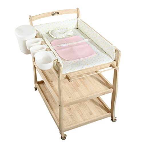Table à Langer, Couches pour BéBéS Table à Langer Organisation du Nouveau-Né avec La PéPinièRe NéOnatale Pad Tactile Multifonction Pliable Table De Traitement Massage
