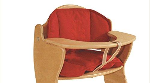 roba Sitzverkleinerer \'Canvas rot\' zweiteilig, passend zu roba Treppenhochstuhl \'Chair Up\'