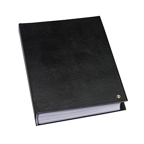 rillstab original A4 Präsentationsmappe für Schule & Projekt - Sichtbuch & Präsentationsbuch - 50 Transparente Hüllen - 30 mm Rückenbreite - Dokumente Organisieren ohne Lochen- Schwarz, 99454