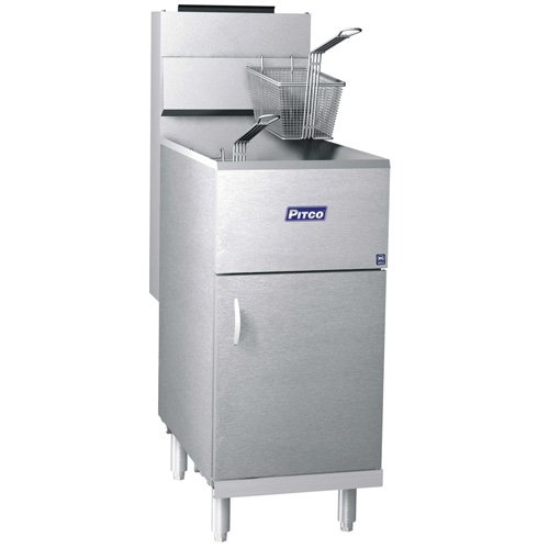Pitco 40D Commercial Deep Fryer, 40-45 lb. Oil Capacity, Natural