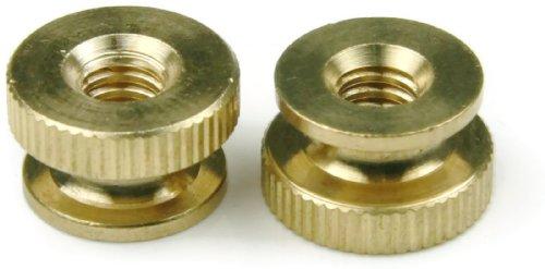 Knurled Thumb Nut Brass - 1/4-20 (5/8 Dia x 3/8 Thick) Qty-25