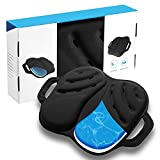 Foldable Cool Gel Seat Cushion with Handle for Office, Truck, Home, Travel-Lift Hips Up Orthopedic Posture Dual Cushion. Easy Carry Orthopedic Elastic Gel Cushion Relief Back, Sciatica Pain.