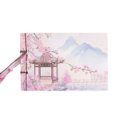 WFS Diarios China Cuaderno de Bolsillo en Blanco Álbum de Fotos en Blanco Cuaderno de bocetos Papelería de Viaje Cuaderno para niños Notebook (Color : C, tamaño : 4PCS)