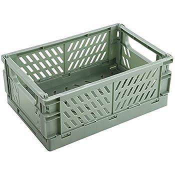 BAREGO Cajas Cesta de Almacenamiento Plegables de Plástico (Verde, Trompeta): Amazon.es: Hogar