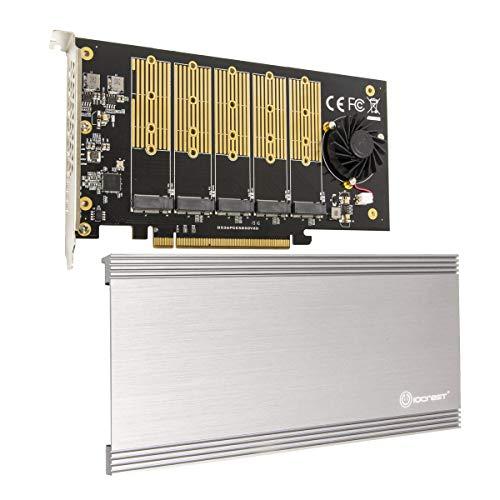 IO Crest 5-Slot M.2 B-Key SATA Base PCI-E 3.0 x2 Bandbreite, Non-Raid Controller Karte benötigt x16 Slot