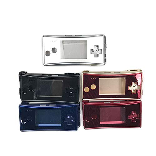 Full Housing Case Cover Shell Aluminum Alloy Metal Housing Shell Replacement for Gameboy Micro GBM Console (Red)