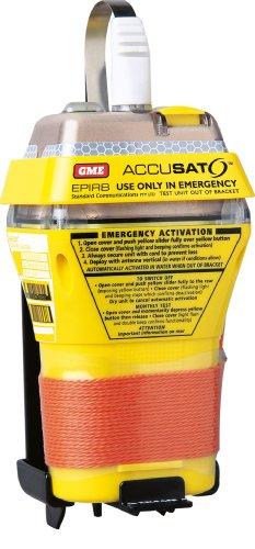 GME MT403 - Radiobaliza de Emergencia RLS para Barcos, Color Amarillo/Naranja