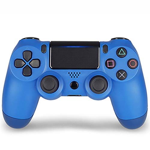Xcmenl Wireless Controller für PS4 Slim/PS4 Pro,USB Controller für PC,Bluetooth Gamepad mit Dual-Vibration Audiofunktionen Playstation Controller Joystick - Blauer Klassiker