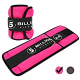 5BILLION Soft Walking Ankle Weights - Workout for Leg Exercises, Weight Training, Walking, Running, Home Gym & Outdoor Workout (1.pink-3lb)