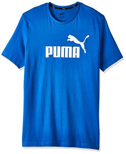 Puma Essentials LG T Camiseta de Manga Corta, Hombre, Azul Royal, L