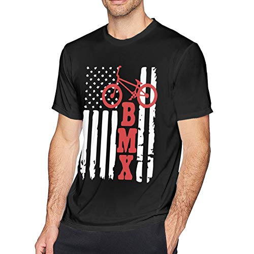 Woodworth Bmx USA - Camiseta deportiva de manga corta para hombre, diseño de bandera americana
