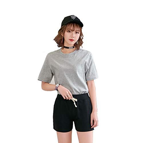 Met Love Tela de algodón Casual Sports Ladies Shorts Shorts de Playa