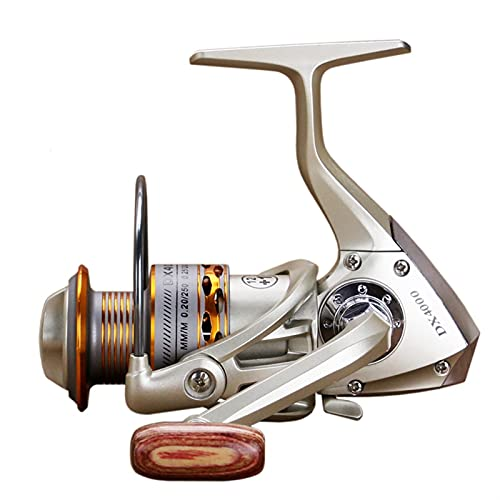Bobina de pesca de doble bobina de madera apretón de manos 12+ 1BB Spinning Pesca carrete profesional metal izquierda/derecha ruedas (tamaño: 5000)