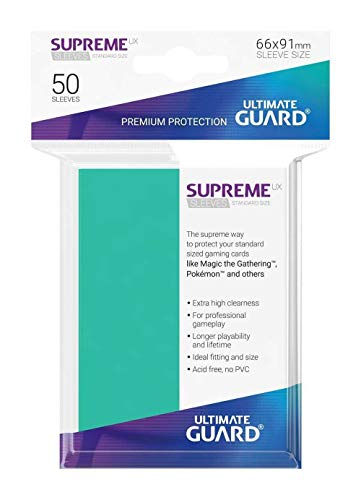 Ultimate Guard UGD10795 Supreme - Juego de Cartas de Türkis (tamaño estándar), Color Azul
