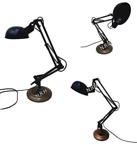 Hermosa lámpara de escritorio de mesa latón negro lámpara de cabecera sala decoración nuevo estilo estudio lámpara