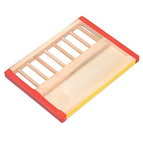 Kleintier Aktivität Spielzeug Aktivität Hamster Turnhalle Rutsche aus Holz - 2