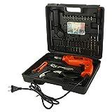 BLACK+DECKER HD555KMPR-B1 13mm 550Watt Hammer Drill and Hand Tools Kit for Home,DIY and Professional use -100 pc