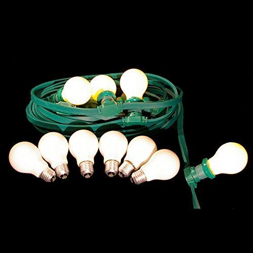 10m festliche Beleuchtung IP44 für innen u. außen inkl. 10 Glühbirnen matt Illu Lichterkette *Sonderangebot*