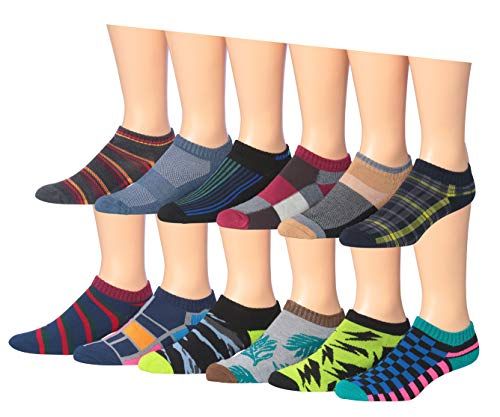 James Fiallo Men's 12-Pairs Low Cut Athletic Sport Socks 2885-3