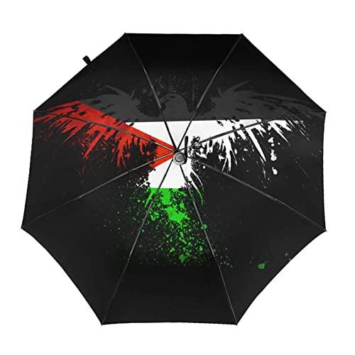 パレスチナ 自動開閉式折りたたみ傘 ワンタッチ 折りたたみ傘 耐強風撥水 大きいサイズ 雨傘 日傘 持ち運びが簡単 おしゃれ 個性 晴雨兼用