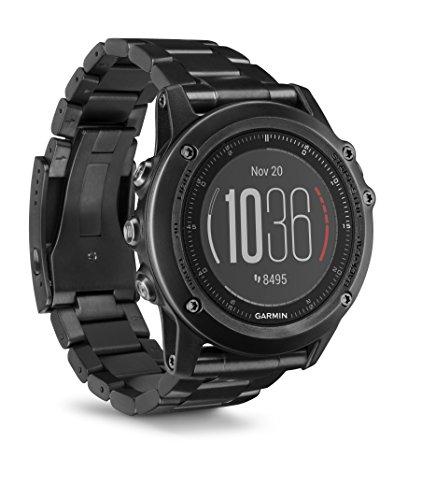 Garmin fenix 3 Sapphire Black HR bracelet en titane et carbone amorphe - Montre GPS multisports Outdoor avec cardio poignet