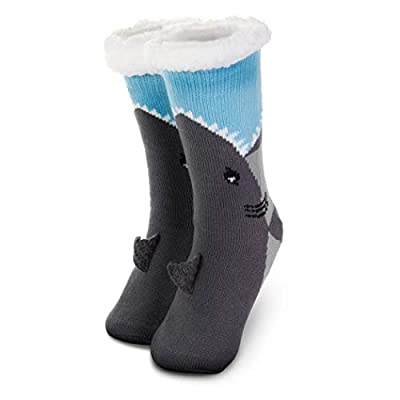 Slipper Sock | Holiday & Costume Socks | Sherpa Fleece Lined | One Size Fits Most
