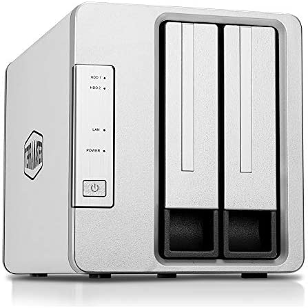 TerraMaster F2-210 2-Bay NAS Quad Core 1GB RAM DDR4 Media Server Personal Private Cloud (Diskless)