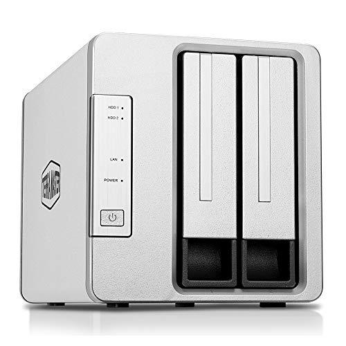 TerraMaster F2-210 2-Bay NAS Quad Core 1GB DDR4 Raid Gehäuse Medienserver persönliche Cloud-Speicherung (ohne Festplatte)