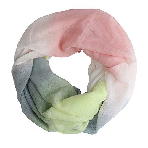 Glamexx24 Neue Kollektion Damen schal leichter Langschal Loop Schlauchschal Tuch Viele Farben, 01184 Pink, Einheitsgröße