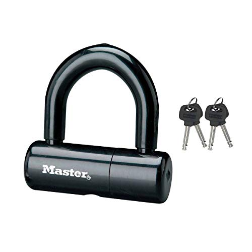Master Lock 8118EURDPS Candado U antirrobo para bicicleta, Negro, 9x4 cm