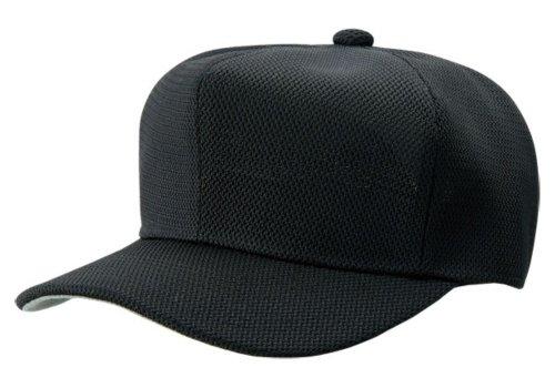 ZETT(ゼット) 野球 ベースボールキャップ (六方型・ダブルメッシュ) BH132 ブラック フリーサイズ