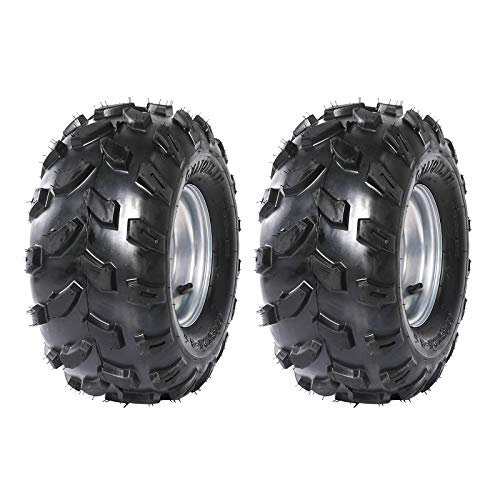 JCMOTO Pack of Two 18X9.5-8 Tubeless Tire With 8 inch Wheels Rims for ATV Go Kart Pit Dirt Bike