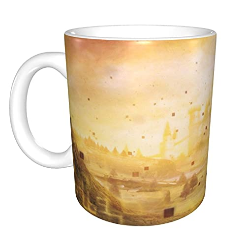 Taza de café de la oficina de la taza de té de cerámica del hogar de Golden Hyrule 10 oz