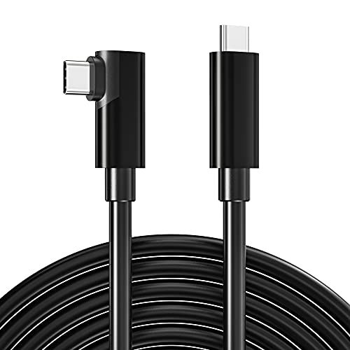 USB C to Type C 3.0 Cable 16.5ft 90 Degree for...