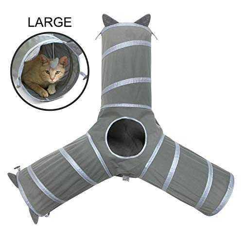 Kitty City Pop-up Cat Cube, Cat Tunnel, Cat Bed, Tunnel, Cat Toys, for Cat and Kitty