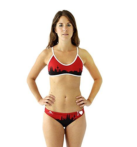Schwimm-Bikini Set KÖLN Swimkini Thin Strap für Sport-Schwimmen Training Surfen (Gr. 40 / Turbo Gr. 2XL)