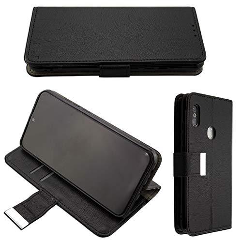 caseroxx Handy Hülle Tasche kompatibel mit Gigaset GS290 Bookstyle-Hülle Wallet Hülle in schwarz