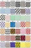 Mini Zip Lock Baggies 1 1/2' x 1 1/2' Colored with Design-We Pick Assortment 1000 Bags