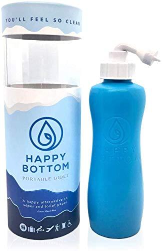 Happy Bottom Washer a Portable Bidet - You'll Feel So Clean. Handheld Portable Bidet Peri Bottle for...