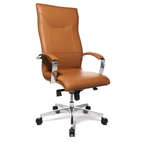 Profi-Chefsessel LEAN ON - Leder hochwertig verarbeitet - cognac - Bürodrehstuhl Bürodrehstühle Chefsessel Chefstuhl Chefstühle Drehsessel Drehstuhl Drehstühle Ledersessel Lederstuhl Lederstühle Sessel
