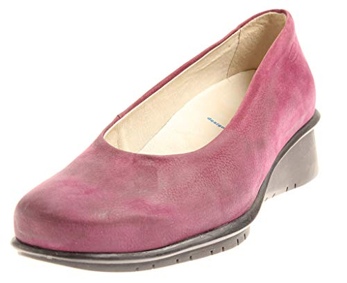 Wolky 4014 Oliva Damenschuhe Lederpumps Leder Schuhe Einlagen Pumps Nubuk Purple EU 37