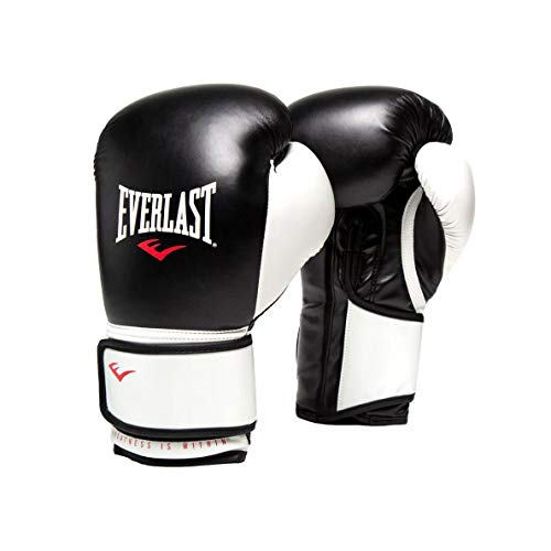 Everlast 16 Ounce Pro Style Elite Advanced Cardio Punching Bag MMA Kickboxing and Boxing Training Gloves, Black
