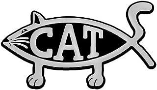 Cat Fish Chrome Auto Emblem - 5.25