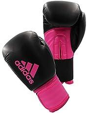 adidas Hybrid 100 Dynamic Fit - Guantes (10 onzas), Color Negro y Rosa