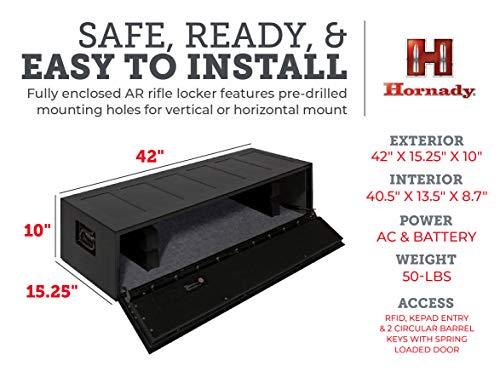 2. Hornady Rapid Safe AR Gun Locker with RFID Touch Free Entry